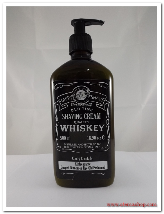 HAPPY HOUR SHAVING CREAM RINFRESCANTE UNAGED TENNESSEE RYE OLD FASHIONED 500 ml