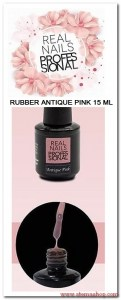 RUBBER ANTIQUE PINK